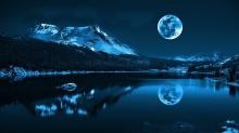moon reflection lake